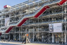 10 Must-See When in Paris - Most Popupar Attractions For Your First Visit to Paris - Centre Georges-Pompidou  Also simply known as Centre Pompidou, this complex is famous for its divisive appearance. Looking like a factory turned inside out, with pipes shooting all directions, this is a departure from Paris's historical landmarks above. Here you can witness modern, high-tech architecture and collections of different forms of art and literature.