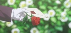 Animated gif uploaded by White. Find images and videos about gif, anime and flowers on We Heart It - the app to get lost in what you love. Anime Gifs, Anime Manga, Anime Art, Anime Red Hair, Casa Anime, Anime Flower, Violet Evergarden Anime, Flower Words, Flowers Gif