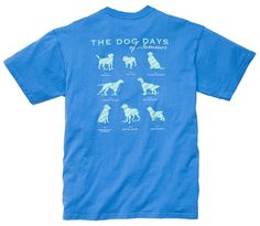 Dog Days Tee: Bocce Blue | Southern Proper