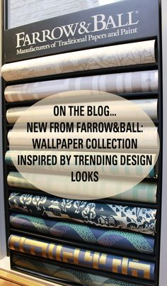 NEW from Farrow&Ball! ~ Wallpaper collection