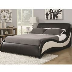 Alma Upholstered Platform Bed - Bring your bedroom into the century with this modern platform bed. Crafted from pine wood, its - Upholstered Platform Bed, Upholstered Beds, Bedroom Furniture, Furniture Design, Garden Furniture, Furniture Movers, Furniture Layout, Fine Furniture, Furniture Stores