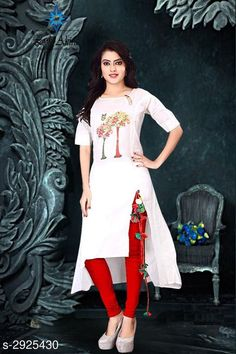 Kurtis & Kurtas Women's Printed White Cotton Kurti Fabric: Cotton Sleeves:  Sleeves Are Included  Size: M - 38 in L - 40 in XL - 42 in Length: Up To 48 in Type: Stitched Description: It Has 1 Piece Of Women's Kurtis Work: Printed Country of Origin: India Sizes Available: M, L, XL, XXL   Catalog Rating: ★4 (483)  Catalog Name: Free Mask Women'S Printed Cotton Kurtis CatalogID_398421 C74-SC1001 Code: 053-2925430-948