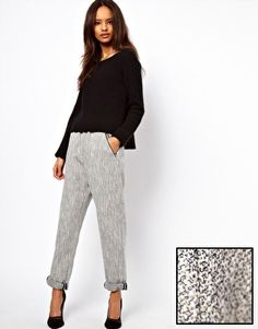 ASOS Trousers in Luxe Boucle