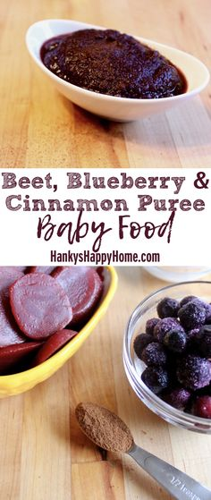 This Beet, Blueberry & Cinnamon Puree combines the earthy flavor of beets with the sweetness of blueberries and a pinch of cinnamon!