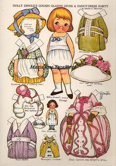 Dolly Dingle cousin Gladys Paper Dolls - Digital Download