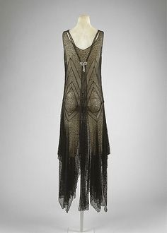 Evening dress, possibly House of Patou, late 1920s