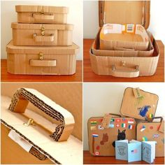 25 ideas about Cardboard Crafts Kids Cardboard Crafts Kids, Cardboard Paper, Paper Crafts, Traditional Home Exteriors, Cardboard Suitcase, Diy And Crafts, Crafts For Kids, Tree Crafts, Diy Storage Boxes