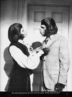 Escape from Planet of the Apes - Kim Hunter as Zira and Roddy McDowall as Cornelius