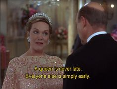a queen is never late @nickisowls @greenfloyd23