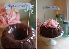 Triple Chocolate Bundt Cake and Banner