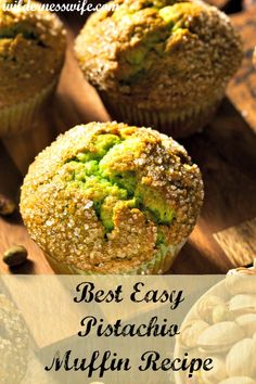Delicious and easy moist pistachio muffin recipe is loaded with nutritious pistachio nuts. Pistachio Bread, Pistachio Muffins, Pistachio Recipes, Pistachio Pudding Muffin Recipe, Pistachio Cupcakes, Pistachio Dessert, Berry Muffins, Mini Muffins, Köstliche Desserts