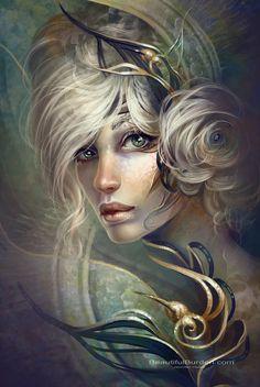 Fantasy Art Women Aliens | You can find more art by Jennifer Healy on her website or Deviantart ...