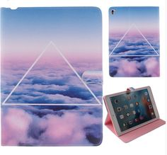 """ipad Pro 9.7 inch Tablet Transparent Covers Flip Stand PU Leather Cases For ipad Pro 9.7"""""""