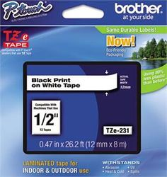 Brother label tape refill cartridge http://www.mypencil.com/BrotherTZ-LabelTapeRefills.aspx