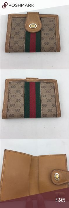 Vintage Gucci Wallet! In good condition.  Has darkening to leather and one small pen mark on inside of wallet.  See pictures. Gucci Bags Wallets