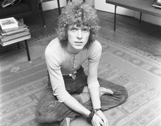 David Bowie is pictured relaxing in his flat in 1969
