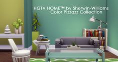 """javabeandreams: """" HGTV HOME™ by Sherwin-Williams - Color Pizzazz Continuing on with creating lightly textured wall paints (that significantly decrease the appearance of in-game pixelization!) in all..."""