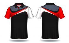 T-shirt polo design, sport jersey templa. T Shirt Polo, Polo Shirt Outfits, Polo Shirt Design, Polo Design, Sport Outfits, Badminton Shirt, Sports Jersey Design, Mens Ethnic Wear, Moda Formal