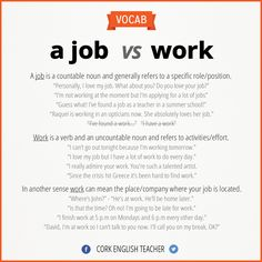 A job vs work. - Repinned by Chesapeake College Adult Ed. We offer free classes on the Eastern Shore of MD to help you earn your GED - H.S. Diploma or Learn English (ESL) . For GED classes contact Danielle Thomas 410-829-6043 dthomas@chesapeake.edu For ESL classes contact Karen Luceti - 410-443-1163 Kluceti@chesapeake.edu . www.chesapeake.edu