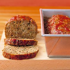 Meatloaf with Chili Sauce - Covering cooked meatloaf with chili sauce, then returning it to the oven produces a slightly sweet, mildly spicy glaze on top. This recipe makes two loaves. Freeze one for later.