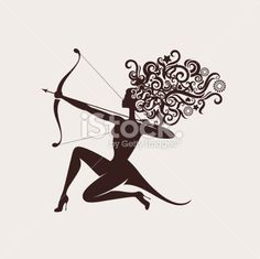 Sagittarius. Royalty Free Stock Vector Art Illustration