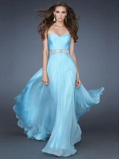 Dazzling Rhinestone Sleeveless Floor-length A-line Sweetheart Chiffon Prom Dress