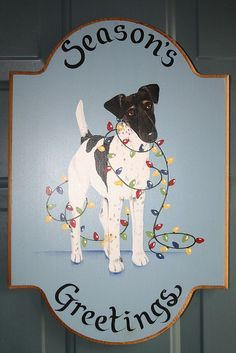Smooth Fox Terrier Holiday Greetings!   by georgiapeachez