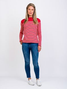 Red Breton Striped Jumper | by bibico