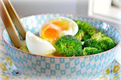 Polenta, Egg  Green Vegetables Bowl. Gluten free meal. By SweetAsHoneyNZ.
