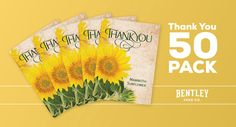 Now available in convenient 50 pack bundle! Orders received before 3:00 pm EST will ship same business day. Orders after 3:00 pm EST will be shipped next business day. *In stock items Our sunflower th