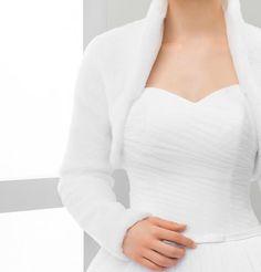3995d9f26890 Warm Bridal Cover up Winter Bridal Jacket White Ivory Black