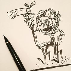 Loaded camel drawing