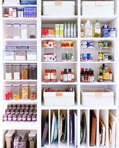 ShopStyle Look by thehomeedit featuring Clear Stackable Plastic Storage Bins and The Home Edit Bath & Laundry Labels Kitchen Organization Pantry, Home Organization, Organized Pantry, Pantry Ideas, Organize Small Pantry, Small Pantry Closet, Pantry Shelving, Pantry Storage, Open Pantry