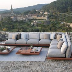 Best Outdoor Brands To Enjoy The Outdoor Living: MOZAIX Collection by Kris van Puyvelde for Royal Botania Outdoor Sofa, Outdoor Spaces, Outdoor Living, Outdoor Decor, Royal Botania, Garden Furniture, Outdoor Furniture, Modular Lounges, Ikea