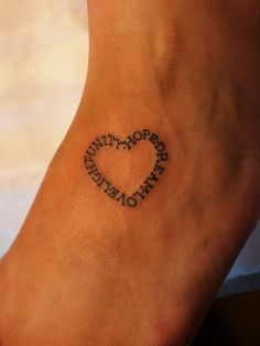 OMG LOVE with the kids names... around my little Love Tattoo... Oh yes this WILL Happen :D