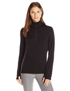 Icebreaker Womens Original Long Sleeve Half Zip Black Large >>> You can find more details by visiting the image link. (Amazon affiliate link)