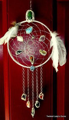 Dream Catcher Handmade Wire Wrapped Stones & by TwistedLadysGems, $200.00