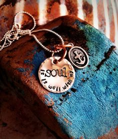 Hand Stamped It is well with my Soul necklace on Etsy, $25.00