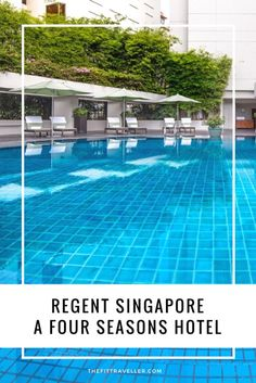 Regent Singapore, A Four Seasons Hotel - 5* Luxury and Wellness offerings walking distance to the Botanic Gardens, Orchard Rd and shopping and entertainment hubs of Singapore.