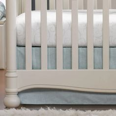 "Aqua Crosshatch Crib Skirt 17"" Drop    Liz and Roo Baby Nursery Closet, Baby Nursery Art, Baby Nursery Neutral, Nursery Design, Nursery Ideas, Mint Green Nursery, Nursery Pictures, Crib Skirts, Crib Mattress"