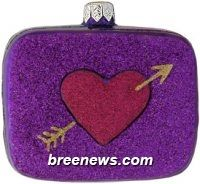 To My Sweet, Purple, Patricia Breen (Gold, Hearts, Purple, Red, Valentine, Ornament)