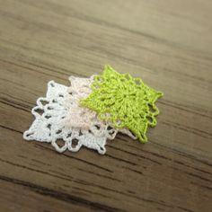 3 miniature crochet square doily 1.2 cm Miniature by MiniGio