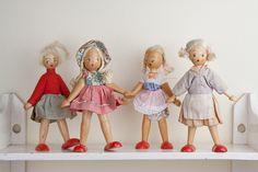 peg dolls, vintage