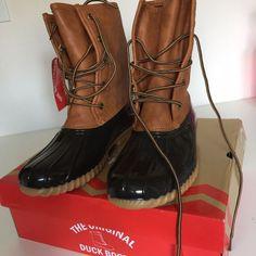 The Original Duck Boot, Tan/Brown Sz 9M Women's | eBay