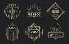 Art Deco Badges by Medialoot on Creative Market Art Deco Badges by Medialoot on Creative Market Arte Art Deco, Moda Art Deco, Estilo Art Deco, 1920s Art Deco, Design Set, Art Deco Design, Logo Design, Graphic Design, Art Deco Font