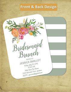 printable bridal luncheon invitation template invite your guests
