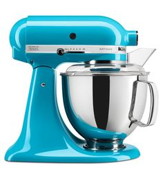 KitchenAid Artisan Ocean Drive Countertop Stand Mixer at Lowe's. The KitchenAid Artisan Series tilt-back head stand mixer is incredibly versatile and more than a mixer. With all the optional attachments (sold Kitchenaid Artisan Stand Mixer, Artisan Mixer, Kitchenaid Sale, Kitchenaid Grinder, Small Kitchen Appliances, Kitchen Aid Mixer, Kitchen Gadgets, Kitchen Tools, Kitchenaid Standmixer