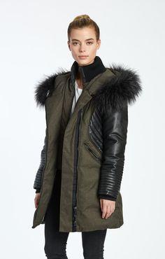 48ced30cdec Sam Long Length Jacket with Vegan Leather Sleeves – Noize Original Canada
