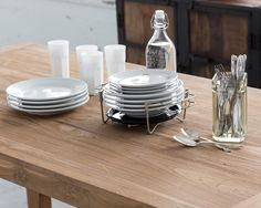 Simple Dining Table + Antique Accents.