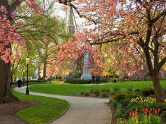 The Green in Spring - Morristown, NJ - had to pin this. I lived in Madison, right next door. Went to Morristown a lot.  I loved living in that area!